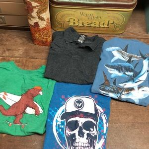 Tony Hawk Boys T-shirts Size 6-7 Lot 4 Shirts